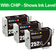 3P Remanufactured Black Ink Cartridges for 252XL 252 XL fit Epson T252XXL & More