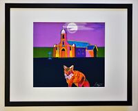 JOHN NIETO Hand-SIGNED 9Color SERIGRAPH Moon LUNA CHURCH Framed NATIVE AMERICAN