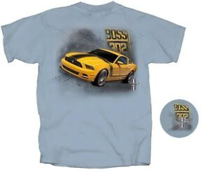 Mustang BOSS 302 - Grabber Yellow T-Shirt LAST ONES! Hurry Before They're Gone!
