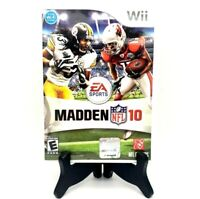 EA Sports Madden NFL 10 Nintendo Wii Complete Game Case Manual Mint Condition