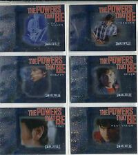 Smallville Season 6 Complete The Powers That Be Chase Card Set PB1-6