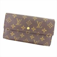 Louis Vuitton Wallet Purse Trifold Monogram Woman Authentic Used R981
