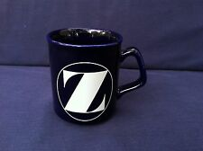 1 Dark Blue Coffee Mug Cup White Initial Z Collectible Decorative Kitchen China