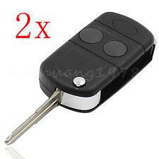 2x Key Shell Case for Land Rover Freelander MK1 TD4 TD5 2 Button Flip Remote New