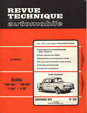 RTA revue technique automobile  n° 329 SKODA 1000 MB S 100 110 1973
