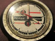 HEUER LEONIDAS SEARS CHRONOGRAPH CASE+MOVEMENT+CRYSTAL ALL ORIGINAL NR