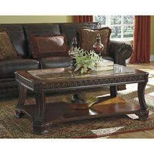 Solid Wood Coffee Table Traditional Living Room Furniture Cherry Cocktail Shelf