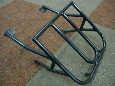 MONKEY PIT BIKE MOTORCYCLE FRONT LUGGAGE RACK / CARRIER - BLACK METAL - NEW