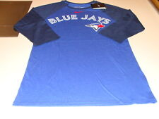 Toronto Blue Jays 3/4 Raglan Wordmark & Logo MLB Baseball T Shirt Top Navy XL