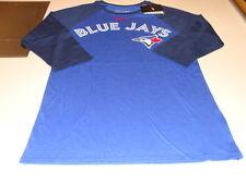 Toronto Blue Jays 3/4 Raglan Wordmark & Logo MLB Baseball T Shirt Top Navy XL
