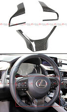 CARBON FIBER STEERING WHEEL ADD-ON TRIM COVER KIT FOR 2016-17 LEXUS GS RX ES LX