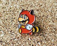 Tanooki Suit Raccoon Mario - Metal Enamel Pin Nintendo - Lapel Collector Promo