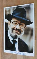 Original autógrafo de umberto eco. personas. recogido. 20x30 foto. 100% auténtico