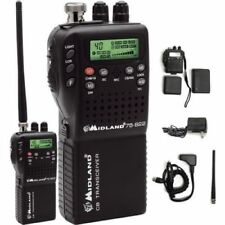 NEW Midland 75-822 Handheld Portable Mobile CB Radio w/ Adapter VHF NOAA Weather