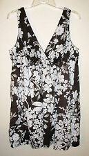 OLD NAVY Women's brown & white sleeveless jumper dress. Size 20+. NWOT