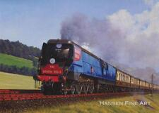 Devon Belle 35008 Orient Line Steam Engine Train Blank Birthday Fathers Day Card