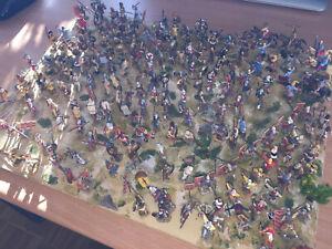 Riesenkonvolut 1:72 Figuren Pferde,Soldaten Krieg Schlacht bemalt profissionell