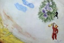 """Marc Chagall  """"Suite Ballet...Le Carnaval"""" Hand Signed Lithograph 1969"""