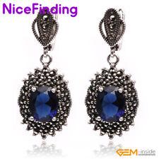 Gemstone Crystal Turquoise Jade Shell Drop Dangle Stud Earrings Fashion Jewelry