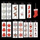 Rustic Wooden Hanging Christmas Tree Pendant Baubles Snowflake Decorations Xmas