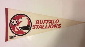 "VTG MISLO Buffalo Stallions 30"" Felt Pennant 1970s 80s Major Indoor Soccer Leagu"