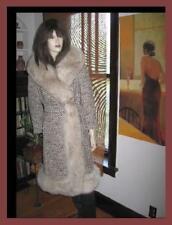Wool Boucle Wool Wrap Coat Plush Fox Fur Sm/Med Petite