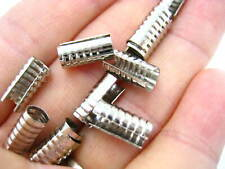 50 Chapado En Plata Plegables Plegadores//Acanalada termina para TANGA resultados para joyería