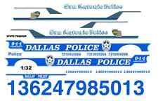 Dallas & San Antonio Police 1/32nd Scale Waterslide Decals