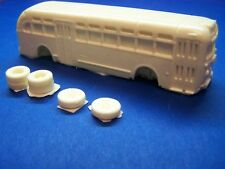 HO SCALE BUS 1940'S TO 1970'S YELLOW TRANSIT COACH RESIN KIT