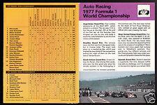 1977 Formula 1 World Championship 1978 SPORTSCASTER USA BOOKLET TRIPTYCH #50
