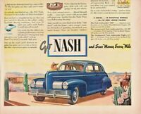 1940 Nash Automobile Vintage Print Ad Shows You How Big A Low Price Car Can Be