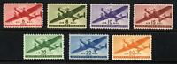 SCOTT C25-31 1941-44 TRANSPORT PLANES AIRMAIL ISSUE COMPLETE SET MNH OG VF!