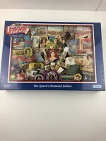 GIBSONS THE QUEENS DIAMOND JUBILEE 1000 PIECE JIGSAW PUZZLE SEALED