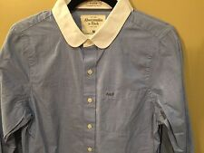 Abercrombie A&F mens Blue & White Collar M NWT muscle-fit button-down was $68.