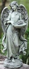 Roman Josephs Studio Inspirational Angel Bird Feeder Outdoor Garden Statue,