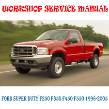 FORD SUPER DUTY F250 F350 F450 F550 WORKSHOP SERVICE MANUAL (DIGITAL e-COPY)