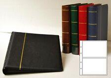 Prophila Kobra Postkarten-Album mit 20 Hüllen für 40 Postkarten schwarz