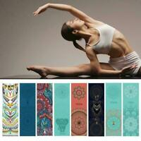 Non-Slip Yoga Pilates Mat Cover Towel Blanket Fitness Exercise Microfiber O2V8