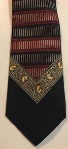 Rykiel Homme Tie Vintage Rykiel Homme Silk Necktie Vintage Rykiel Homme Made In France Abstract Pattern Silk Necktie