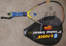 "E-FORCE Vengeance 22"" LongString Technology Titanium Racquetball Racquet"