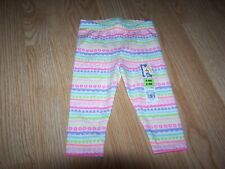 Garanimals Baby Girls Colorful Legging Pants   Size 6-9 Months  NWT