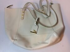 Emma Fox White Leather Shoulder Bag  Pre-Owned
