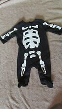 Carter's Halloween Skeleton One Piece Creeper - 3 Months - New  (G 54)
