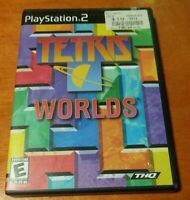 Tetris Worlds Sony PlayStation 2 PS2 THQ  Authentic Tetris Game  Everyone