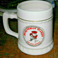 Rare Minuteman Flames Minor League Hockey Association Boston Ceramic China Mug