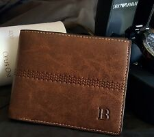 New Men's Leather Bifold ID Card Holder Purse Wallet Billfold Handbag Clutch