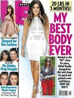 Us Weekly Magazine Khloe And Kim Kardashian Cory Monteith Lea Michele 2013