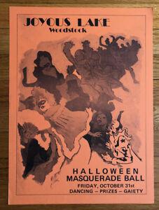 WOODSTOCK, NY/Joyous Lake/Halloween/Original Music Poster/1975/Art Nouveau