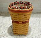 Longaberger Basket Flower Vase 1998 Snapdragon Home Decor Farmhouse Gift Hostess