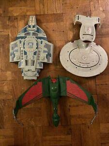 Star Trek Next Generation Playmates Ship Lot!  NCC-1701-D Klingon Bird Of Prey